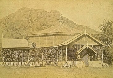 Bush-house at the Townsville Botanical Gardens, ca. 1900.