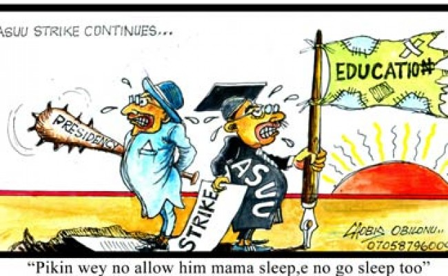 Related image  ASUU STRIKE TO END FOREVER!! NIGERIAN STUDENTS REJOICE AS FINAL END OF ASUU STRIKE IS NEAR – SEE DETAILS ASUU strike Cartoon 650x400