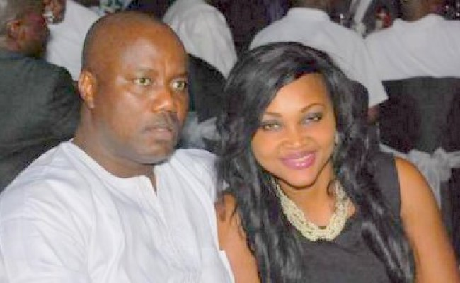 Mercy Aigbe's husband narrowly escapes death