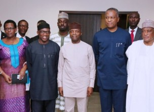 Image result for A.U. Peace and Security Council visits Osinbajo