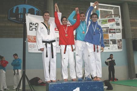 Samuel López tamén acadou o bronce no Absoluto de Moaña. (Foto cedida).