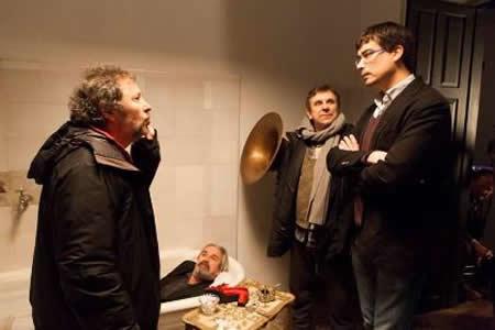 """O delegado de Cultura da Deputación de Lugo, Mario Outeiro, achegouse ós traballos de rodaxe da película """"A esmorga"""", que tivo lugar neste mes no Pazo de Tor en Monforte.  GPVDL."""