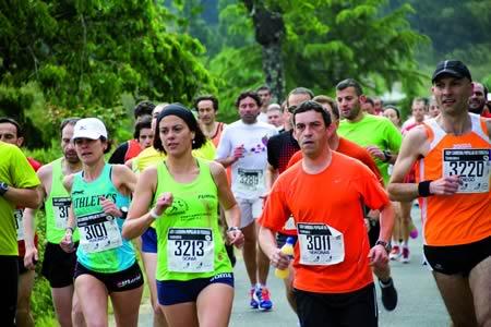 A media maratón da Ferreirúa, a proba decana do atletismo lucense, cumpliu 25 anos como unha das citas imprescindibles do calendario de running galego. Arquivo EC.