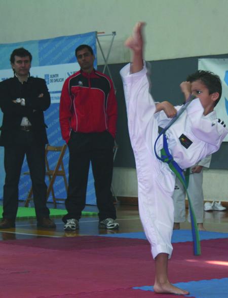O xove taekwondista do Neka, Alejandro Fernández Franjo, estivo entre os seis deportistas galegos que lograron meterse na final do recente Campionato de España. Arquivo EC.