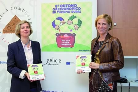 A directora de Turismo de Galicia, Nava Castro, presentou a comezos de setembro a oitava edición do Outono Gastronómico, na que participan 106 establecementos rurais de toda Galicia. GCXG.