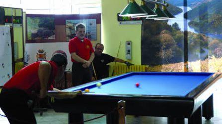 O Casino de Chantada acolleu o ano pasado o I Trofeo Ribeira Sacra, e que este ano coincide co Campionato Galego de Billar a tres bandas. Arquivo EC.