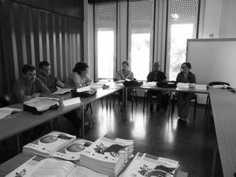 Imaxe de arquivo dunha das actuacións formativas da primeira edición do Pacto Provincial polo Emprego desenvolvida en Monforte.  Arquivo EC
