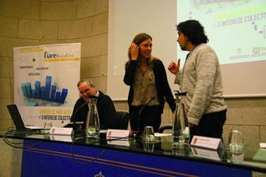 A deputada de Economía, Recadación e Facenda, Pilar García Porto, durante a inauguración das xornadas técnicas e informativas sobre a Banca Ética celebradas en Lugo o 17 e 18 de outubro. GPDL.