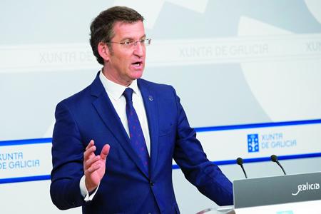 O presidente da Xunta de Galicia, Alberto Núñez Feijóo, logo do Consello no que se aprobou esta medida, o pasado 8 de xaneiro. GPXG.
