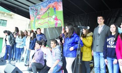 Un momento do acto de peche do Correlingua 2015 en Lugo. (Foto cedida).