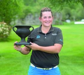 A escocesa Michelle Thomson alzouse co triunfo na proba internacional de golf feminino amateur disputada en Augas Santas. (Foto cedida).
