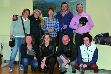 Foto de familia dos gañadores do Torneo previo ao LET Access Series 2015, que se disputou en Pantón o 18 de abril. (Foto cedida).