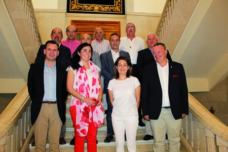 A presidenta da Deputación de Lugo, Elena Candia, durante a presentación do seu equipo de Goberno, na sede de San Marcos. SCDL.