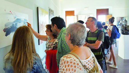 Visita do grupo de bretóns da Irmandade Sarria-Guerlédan ao Salón de Outono. (Foto: J.López).