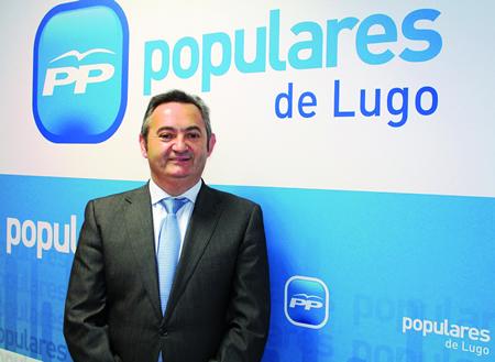 "O secretario xeral do Partido Popular de Lugo, José Manuel Balseiro, valorou que o Executivo de Feijóo ""priorice o gasto nas provincias do interior fronte ás atlánticas"". Arquivo EC."