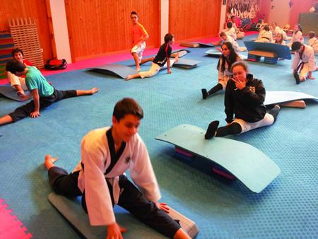 Imaxe dos adestramentos que realizan os deportistas do club Neka de Monforte, para retomar o traballo de competición. (Foto cedida).
