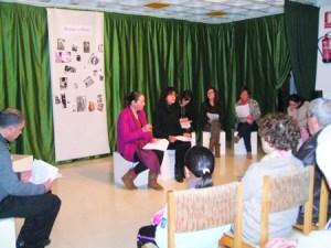 Imaxe da representación de Teatro Lido na Casa da Xuventude de Chantada. (Foto cedida).
