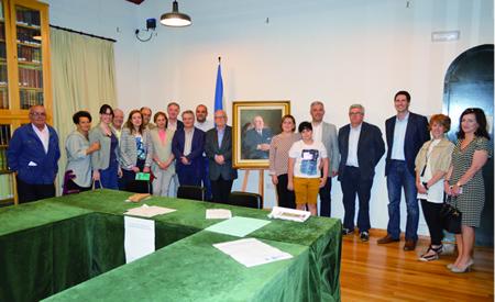 Imaxe da entrega dos premios do X Proxecto Didáctico Antón Fraguas Fraguas, celebrada no Museo do Pobo Galego o pasado 29 de xuño. GPXG.