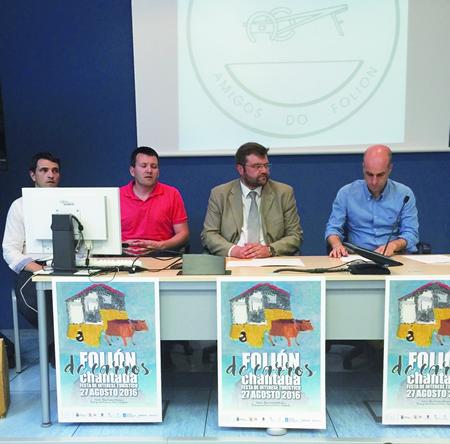 Presentación do convenio asinado entre a Fundación TIC e a Asociación de Amigos do Folión para a realización dun documental sobre esta chantadina festa de interese turístico . GPDL.
