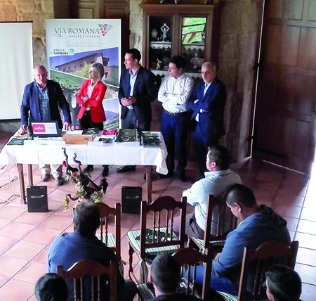 A presentación da guía de prevención de riscos laborais na vendima tivo lugar na adega Vía Romana, de Chantada, o 14 de setembro. GPXG.