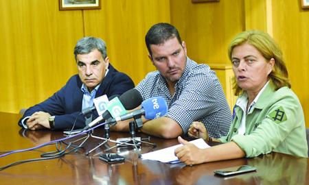 Presentación das modificacións na orde de axudas na xestión do xabaril, a cargo da directora xeral de Conservación da Natureza, Ana María Díaz, en Pontevedra o 12 de setembro.  GPXG.