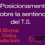 Posicionament d'En Comú Podem Rubí sobre la sentència del T.S.