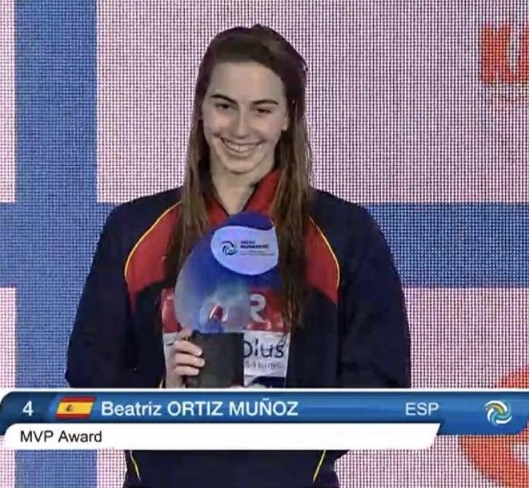 Bea Ortiz es proclama campiona de l'Europeu de waterpolo i és escollida millor jugadora