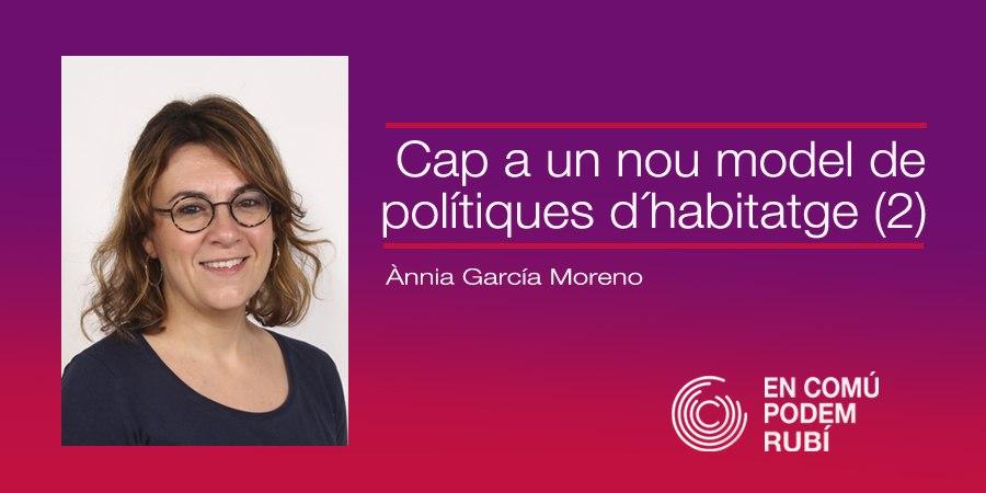 CAP A UN NOU MODEL DE POLÍTIQUES D'HABITATGE (2)
