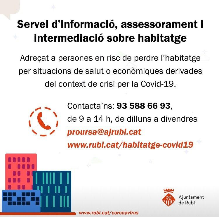 NOU SERVEI MUNICIPAL D'INFORMACIÓ, ASSESSORAMENT I INTERMEDIACIÓ EN HABITATGE
