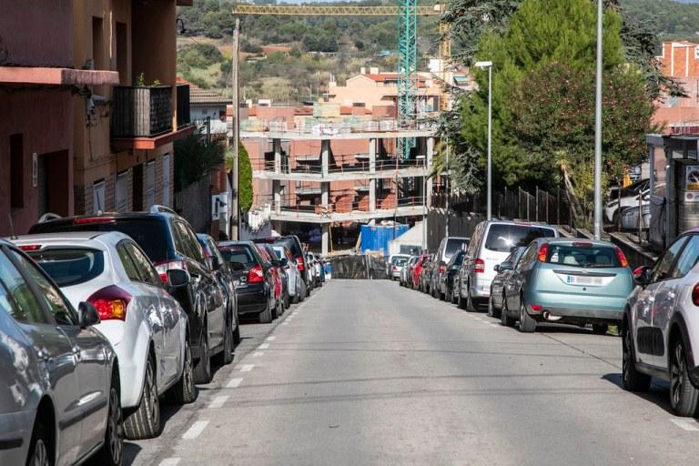 La xarxa de clavegueram d'un tram del carrer de Sant Jordi es renova per millorar el servei