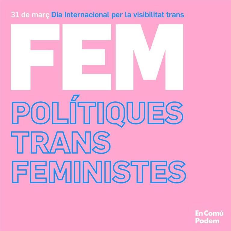 31 de març: FEM POLÍTIQUES TRANS FEMINISTES