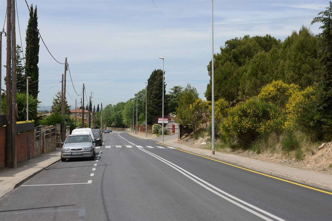 L'Ajuntament millora les voreres de part del camí escolar del Rivo Rubeo