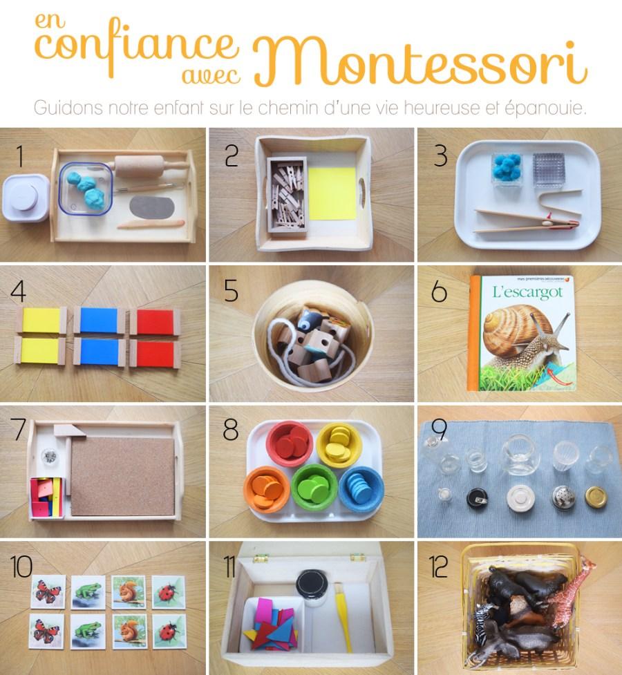 12 propositions de mat riel montessori pour un enfant de 2 3 ans. Black Bedroom Furniture Sets. Home Design Ideas