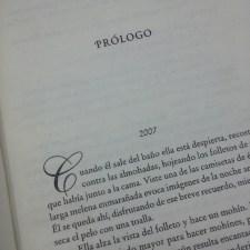 Fragmento elegido para realizar la investigación: Prólogo. Página 9. Fotografía tomada por Carolina Foronda.