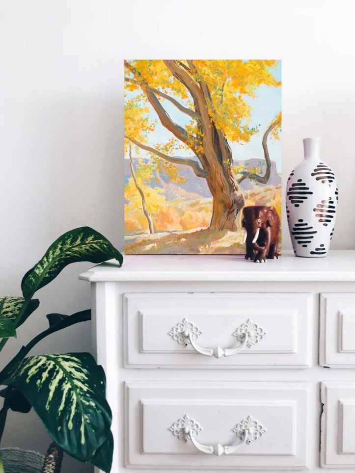 October Morning Canvas Print by Maynard Dixon