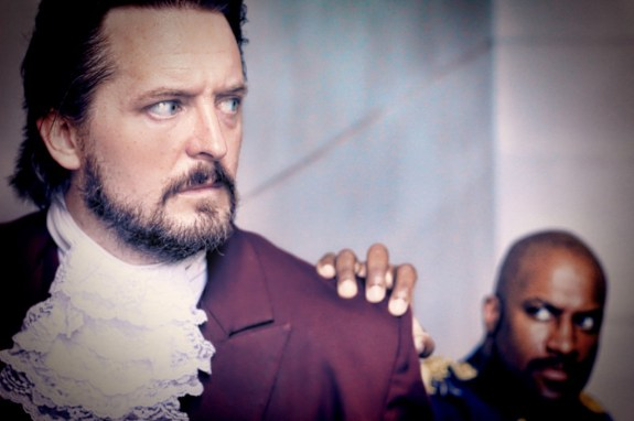 "'LES MIZ"": Bryant Smith as Valjean, Kevin Harry as Javert."