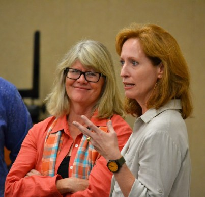 JUDITH IVEY (left) with Alliance artistic director Susan V. Booth.