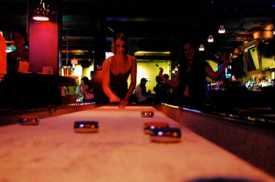 Drink, dine and play shuffleboard at Ormsby's.