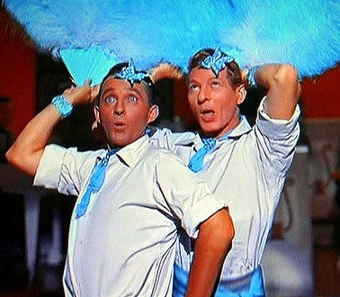 """Bing Crosby and Danny Kaye in the movie """"White Christmas."""""""