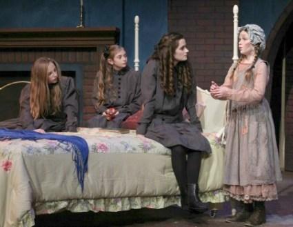 CXX-Olivia Windley as Ermengarde, Allison Gann as Lottie, Emerson Steele as Sara and Brenna McConnell as Becky