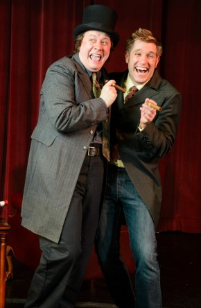"""Charley's Aunt"" at GET: Hugh Adams (left) and Joe Sykes. Photo by Dan Carmody, Studio 7"