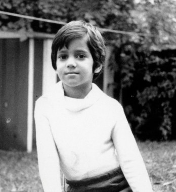 Akhtar as a boy (photo from his website)