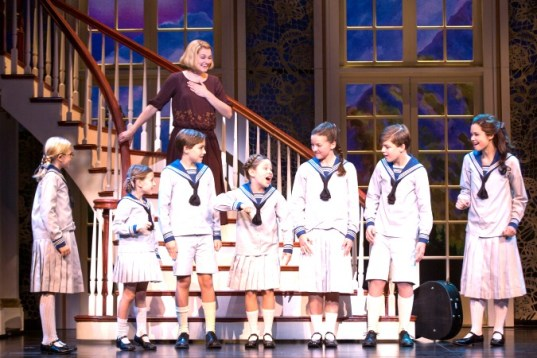 Maria (Kerstin Anderson) and the von Trapp children, all seven of them. Photo: Matthew Murphy