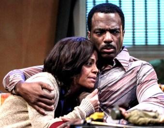 """Tinashe Kajese-Bolden and Gilbert Glenn Brown in """"Serial Black Face."""" Photo: BreeAnne Clowdus"""