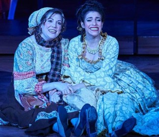 Wendy Melkonian (left) as the Baker's Wife and Diany Rodriguez as Cinderella. Photo: Chris Bartelski