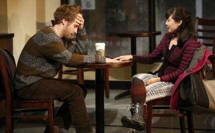 "Ryan Spahn and Jennifer Kim in ""Gloria"" off-Broadway. Photo: Carol Rosegg"