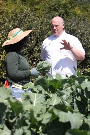 Chef Linton Hopkins (right) has opened his new fine-dining spot at the Atlanta Botanical Garden. Plans call for much of the produce to be grown on-site. Photo: Atlanta Botanical Garden