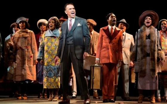 """Shuffle Along"" etc. features Brian Stokes Mitchell (center), an all-star cast and the talents of director George C. Wolfe and choreographer Savion Glover. Photo: Julieta Cervantes"