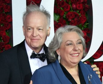"""Acting winners for best-play winner """"The Humans"""": Reed Birney (left) and Jayne Houdyshell. Photo: Dimitrios Kamburis/Getty Images"""