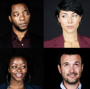 The cast (clockwise, from top left): Neal A. Ghant, Julee Cerda, Joe Knezevich, Danielle Deadwyler.